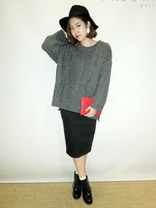 秋冬♡タイトスカートのOLっぽく見せない着こなしコーデ集