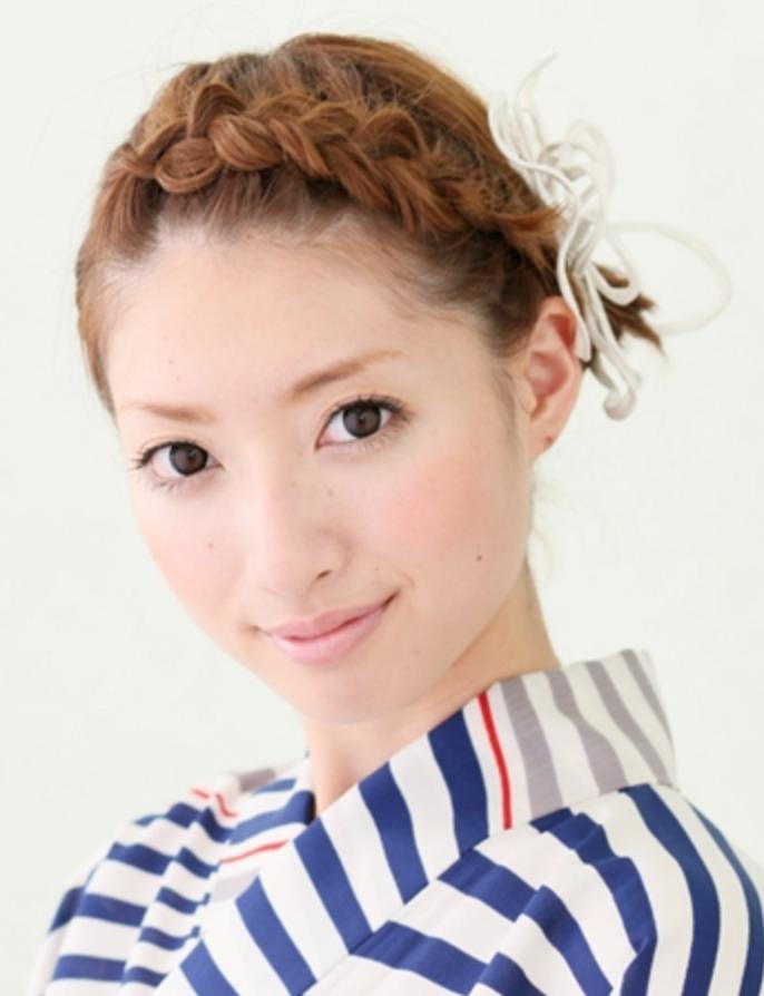 ベリーショート 浴衣 髪型