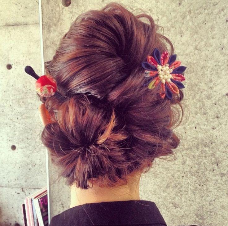 最新のヘアスタイル 色打掛髪型カタログ : 振袖、色打掛、留袖の和装ヘア ...